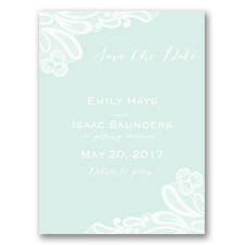 Candy Lace - Sea Glass - Save the Date