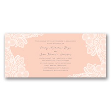 Candy Lace - Orange Chiffon - Invitation