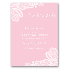 Candy Lace - Pink Blossom - Save the Date