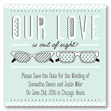 Out of Sight - Sea Glass - Save the Date Magnet