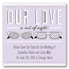 Out of Sight - Soft Violet - Save the Date Magnet