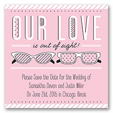 Out of Sight - Pink Blossom - Save the Date Magnet