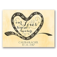 Love Beyond Measure - Buttercream - Save the Date Magnet