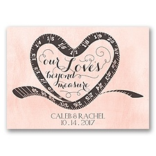 Love Beyond Measure - Orange Chiffon - Save the Date Magnet