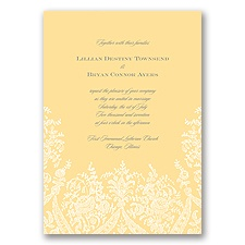 Garden Lace - Buttercream - Invitation