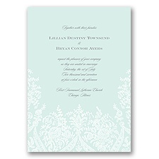 Garden Lace - Sea Glass - Invitation