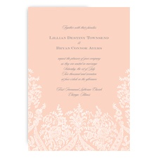 Garden Lace - Orange Chiffon - Invitation