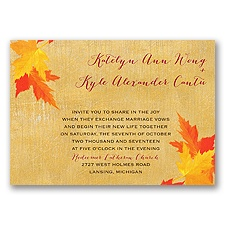 Mystic Maple Leaves - Invitation
