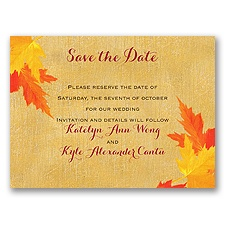 Mystic Maple Leaves - Save the Date