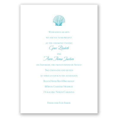 Beach Elements - Malibu - Invitation