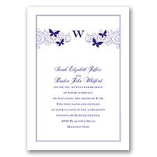 Butterfly Swirl - Regency - Invitation