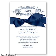 Down The Aisle - Marine - Invitation