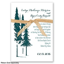 Forest Romance - Gem - Invitation