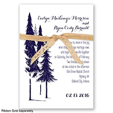 Forest Romance - Lapis - Invitation
