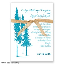 Forest Romance - Malibu - Invitation