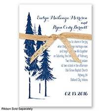 Forest Romance - Marine - Invitation