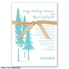 Forest Romance - Pool - Invitation