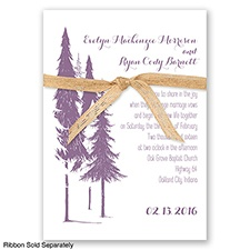 Forest Romance - Wisteria - Invitation