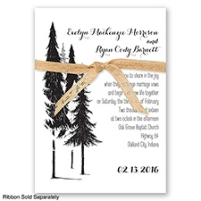 Forest Romance - Black - Invitation