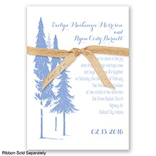 Forest Romance - Bluebird - Invitation