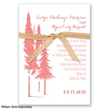 Forest Romance - Coral Reef - Invitation