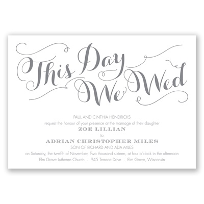Gracefully Wed - Mercury - Invitation