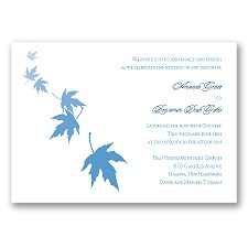 Falling Leaves - Cornflower - Invitation