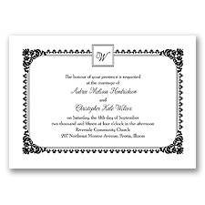 Serene Border - Black - Invitation