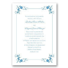 Blossoms Galore - Cornflower - Invitation