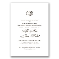 Natural Elements - Chocolate - Invitation