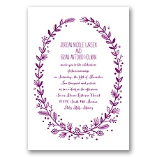 Pine Cone Wreath - Sangria - Invitation