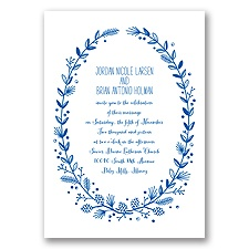 Pine Cone Wreath - Horizon - Invitation