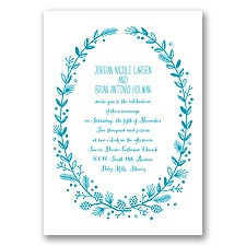Pine Cone Wreath - Malibu - Invitation