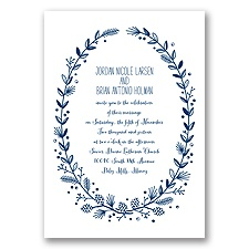 Pine Cone Wreath - Marine - Invitation
