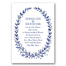 Pine Cone Wreath - Regency - Invitation
