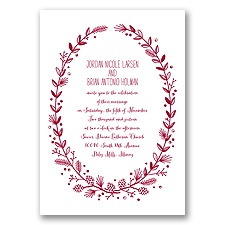 Pine Cone Wreath - Apple - Invitation