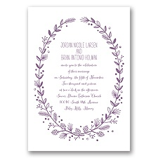 Pine Cone Wreath - Wisteria - Invitation