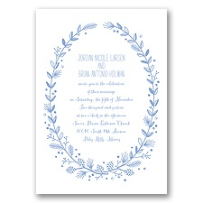 Pine Cone Wreath - Bluebird - Invitation