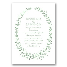 Pine Cone Wreath - Meadow - Invitation