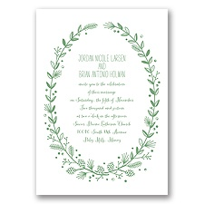 Pine Cone Wreath - Clover - Invitation