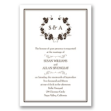 Perfect Vintage - Chocolate - Invitation