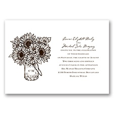 Sunflower Jar - Chocolate - Invitation