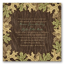 Woodland Bliss - Invitation