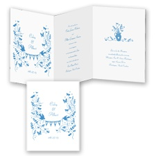 Rustic Romance - Cornflower - Invitation