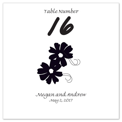 Bright White Design Choice Table Number