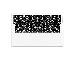 Monogram Flourish - Black - Envelope Liner
