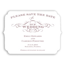 Chic Die Cut - Rosewood - Save the Date