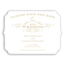 Chic Die Cut - Golden - Save the Date