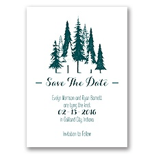 Forest Romance - Save the Date