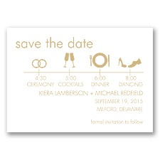 Time Line - Golden - Save the Date